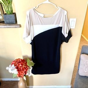 Like new: Dress Barn cream and black cocktail dres